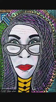 ציורים רוכשים קונים בסטודיו חוויה שבטית ופופ ארט מירית בן נון ציירת אמנית ישראלי עכשווי מודרני