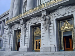 San Francisco City Hall Entrance