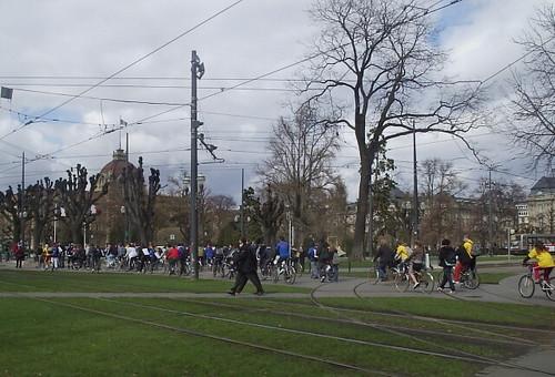 Demonstation in Strasbourg by art students