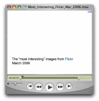 Most Interesting Flickr Photos Feb 2006 Video