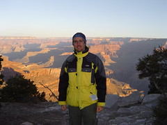 Me in front of the Grand Canyon after Sunrise