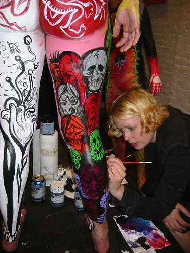MF GALLERY BODY PAINTING OPENING NIGHT