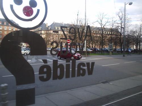 Tram ride in Strasbourg France