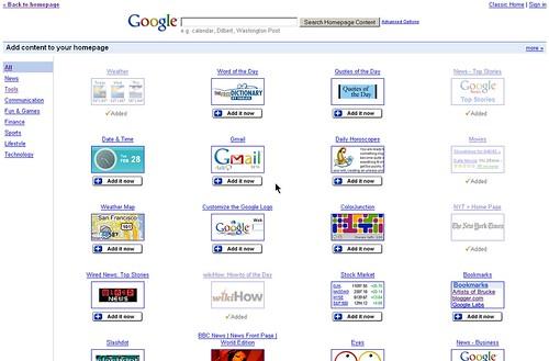 Google's modules
