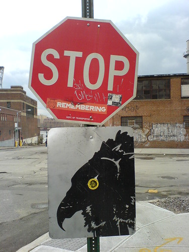 Stop Sign / Street Art at Grand and Kent