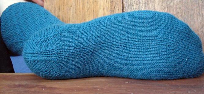teal sock bottom