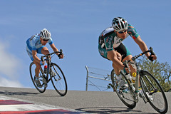 Menzies and Leipheimer through The Corkscrew