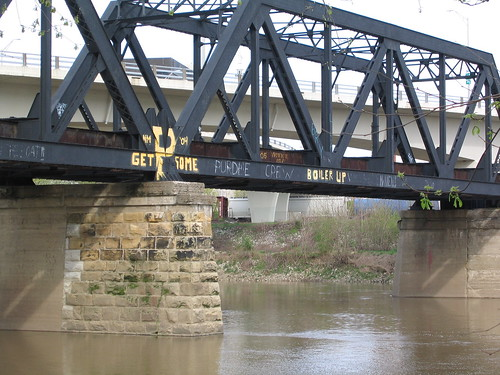 Rail bridge over the Wabash River