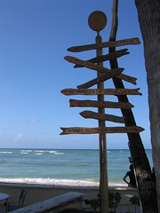 Signpost at the Beach Bar