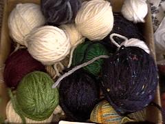 small yarn balls