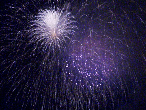 Purple fireworks!