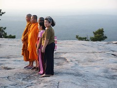 Monks on Stone Mountain