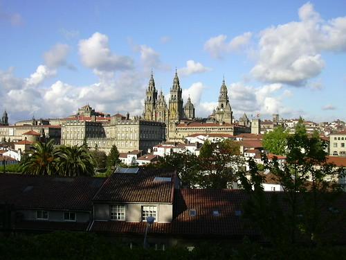 Catedral de Santiago de Compostela (desde el parque de la Alameda)