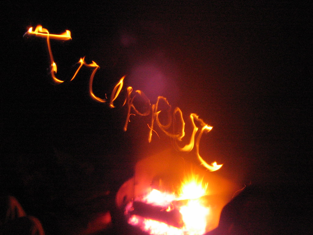 Tripper in flames!