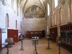 Sala de catas, antiguo comedor de la abadía