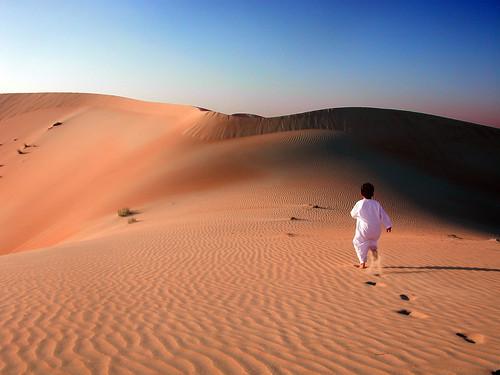 Child in the desert