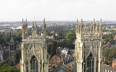 View from the roof of York Minster
