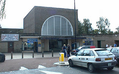 The station front at Loughton