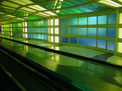 O'hare from moving sidewalk