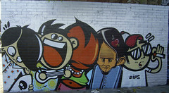 barcelona graffiti characters photo by duncan