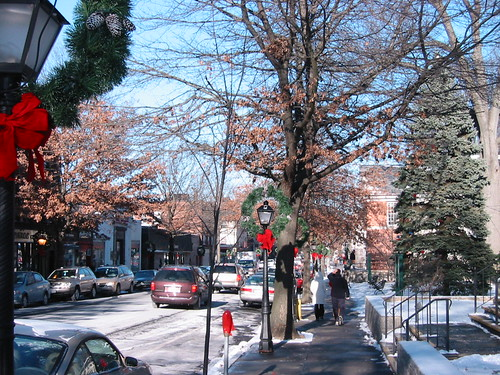 downtown Pelham after snow