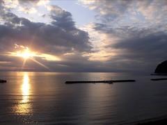 土肥明治館 - 耀眼的夕陽,寧靜的海灘