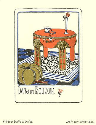 Bagge et Huguet, La Gazette du Bon Ton, Dans un Boudoir, 1920