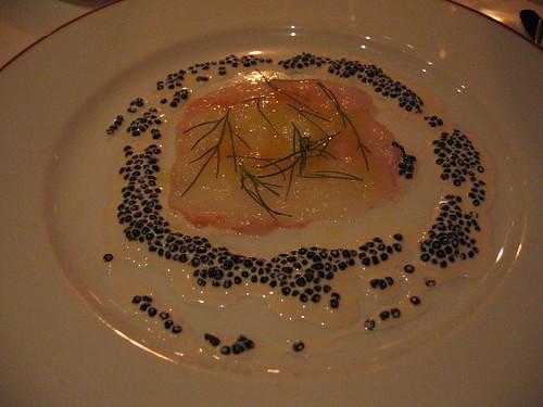L'Arpege - Langostine Carpaccio w/ Osetra Caviar in Cream