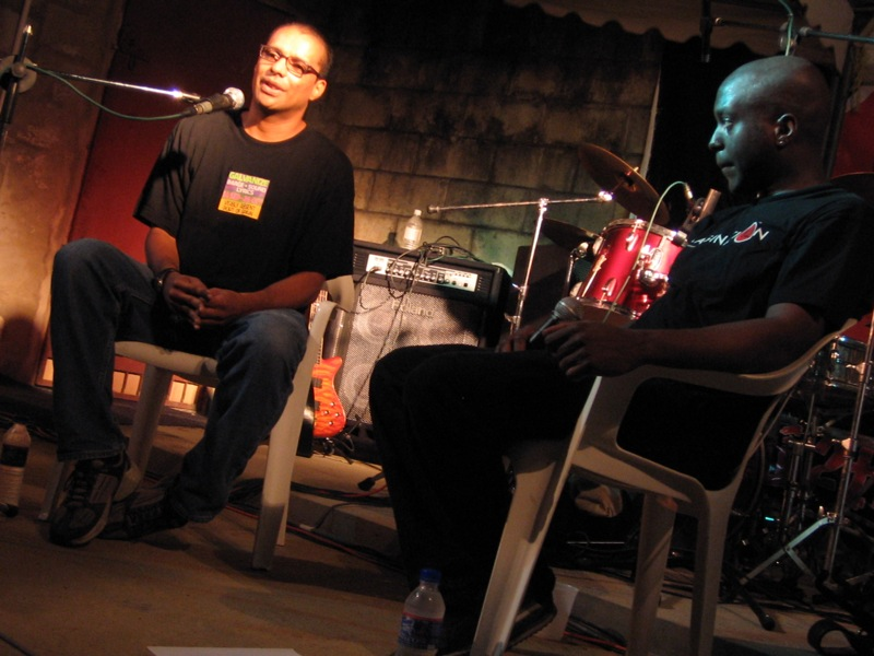 christopher cozier and sheldon holder in conversation.JPG