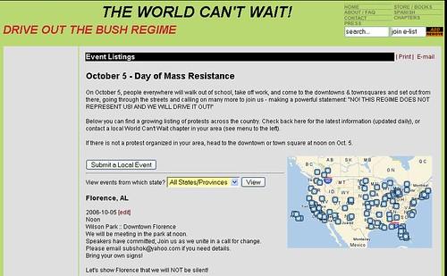 anti-bush event