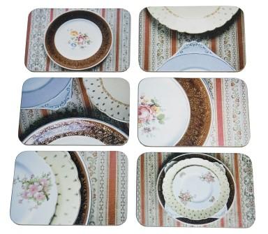 6 layout vintage plates