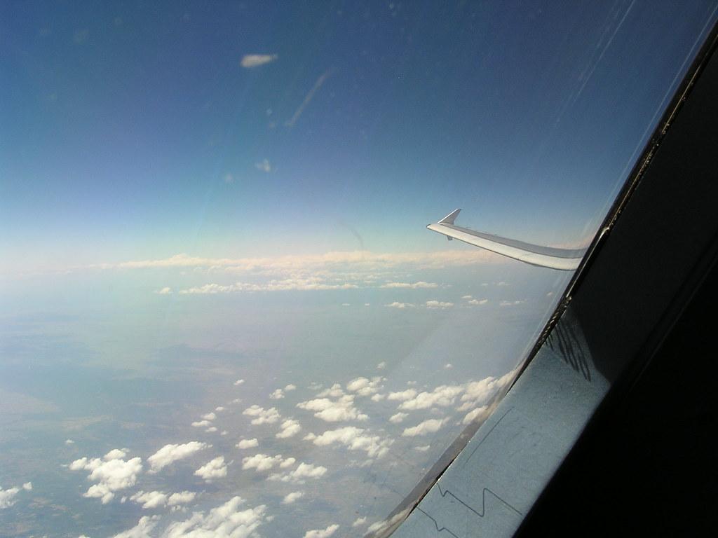 Winglet visto desde la cabina del A320