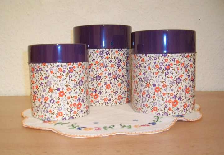 Flowered cans