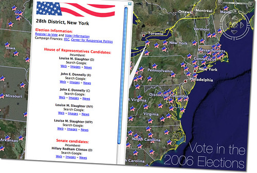 Google Earth: US Elections Guide 2006