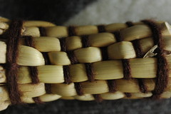 Plaiting of plaited broom