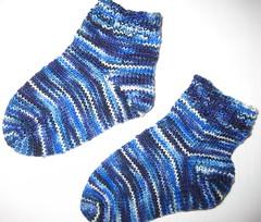 Toe-up Toddler Socks