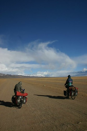 The French guys enjoying the superb surroundings. Darchen, Tibet.