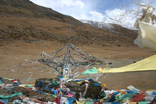 Prayer flags on the Mt. Kailash Kora...