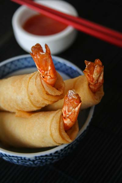 Tiger Prawns Springrolls by Mae at Food Blog – Rice and Noodles