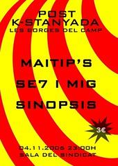 Post K-stanyada a Les Borges del Camp