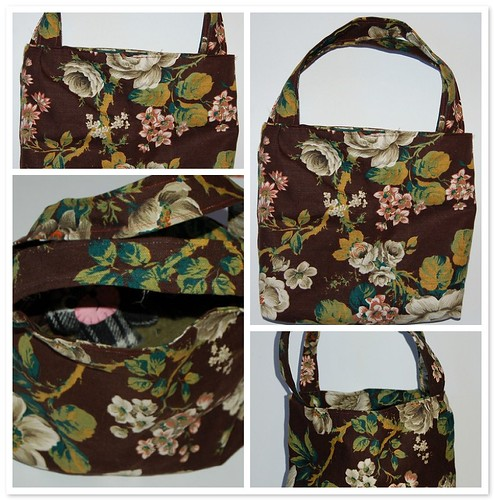 Brown rose bag