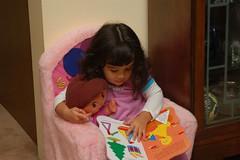 Reading to Dora