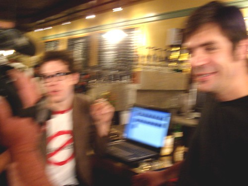 Alex and Nick, blurred