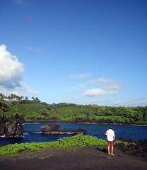 Kite Photography, Wainapanapa State Park