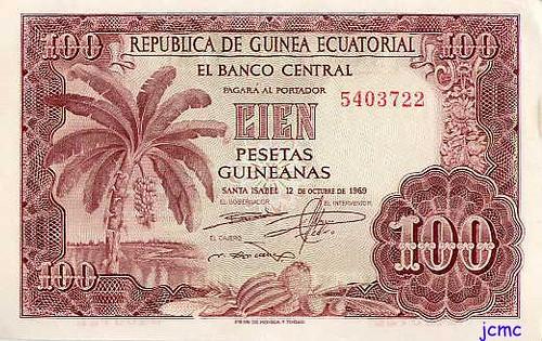 100 Ptas Guineanas