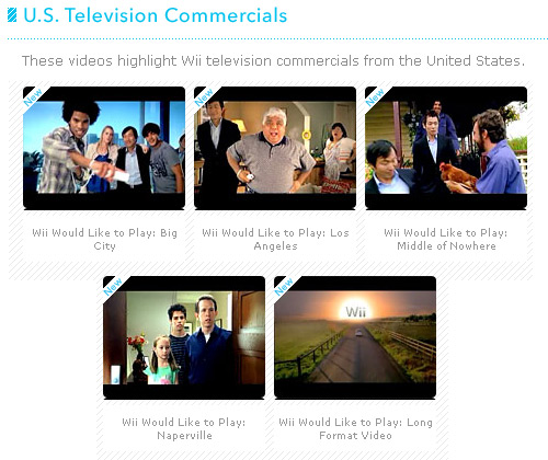 All 5 high quality Wii TV Commercials