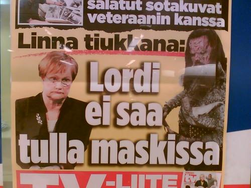 Lordi no puede venir con máscara
