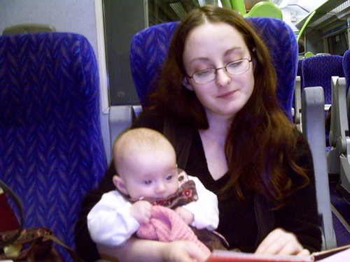 On the train with Tia Eva