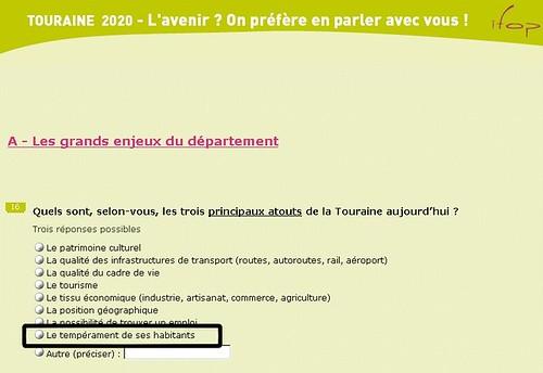 Enquête Touraine 2020