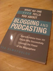 Blogging and Podcasting Book (Ted referenced me)